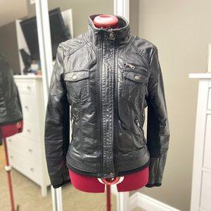 Ci Sono Faux Leather Bomber Jacket